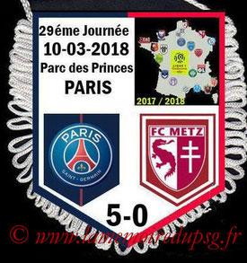 Fanion  PSG-Metz  2017-18