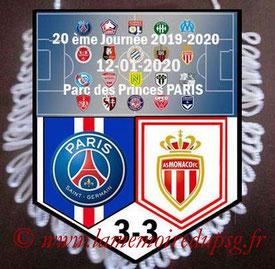 Fanion  PSG-Monaco  2019-20