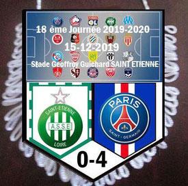 Fanion  Saint Etienne-PSG  2019-20