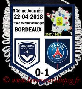 Fanion  Bordeaux-PSG  2017-18