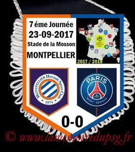 Fanion  Montpellier-PSG  2017-18