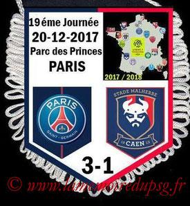 Fanion  PSG-Caen  2017-18