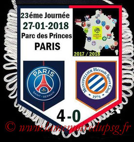 Fanion  PSG-Montpellier  2017-18