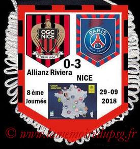 Fanion  Nice-PSG  2018-19