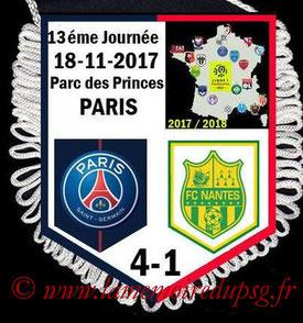 Fanion  PSG-Nantes  2017-18