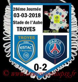 Fanion  Troyes-PSG  2017-18
