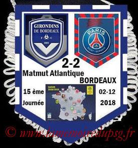 Fanion  Bordeaux-PSG  2018-19