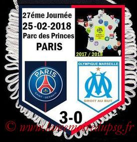 Fanion  PSG-Marseille  2017-18