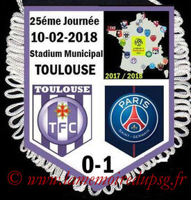 Fanion  Toulouse-PSG  2017-18