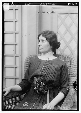 Hélène Keller en 1913 © Library of Congress