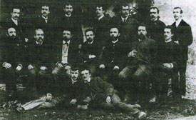 Peter Rosegger mit dem MGV im Jahre 1910