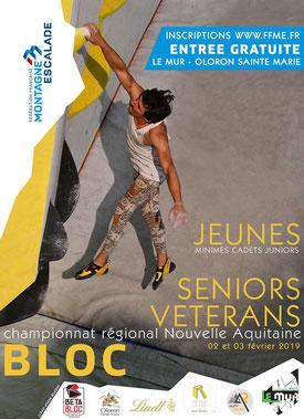 Championnat régional de bloc - 02 et 03 février 2019 - Oloron Ste Marie