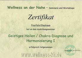 Zertifikat Geistig Heilen Chakra Diagnose Harmonisierung 1