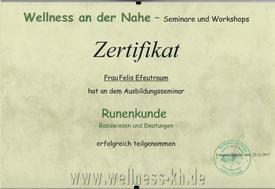Zertifikat Runenkunde Runen deuten