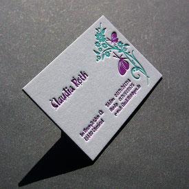 Letterpress Visitenkarten onlineshop