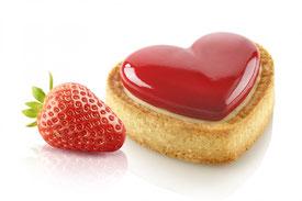 Amour, silicone, tarte, tarte 4.0, dessert, saint-valentin