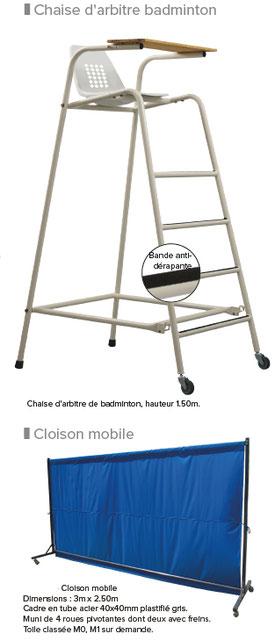 badminton chaise arbitre
