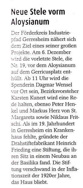 Dezember 2014, Der Gerresheimer