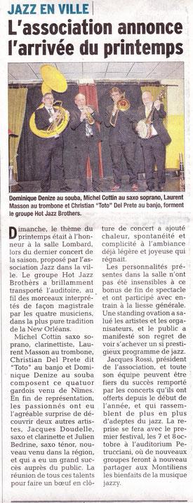 Le Dauphiné du 16 mars 2016