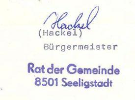 Bild: Bürgermeisterstempel Seeligstadt