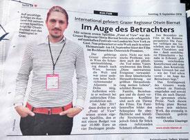 Kronen Zeitung über Im Auge des Betrachters - Otwin Biernat