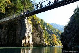Hängebrücke mit Entenlochklamm