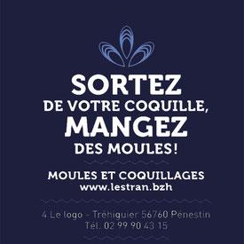 Slogan Moules L'ESTRAN Pénestin