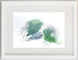 CADUCITY N° 2, Penna a sfera e acquerello, 30 x 20