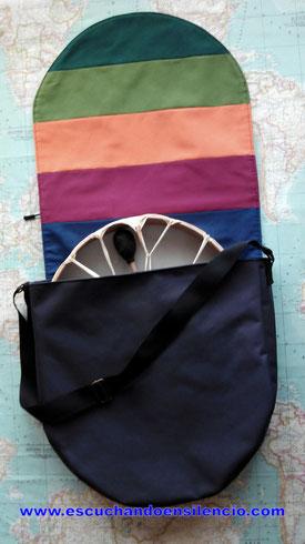 Bandolera para llevar el tambor, impermeable y acolchada