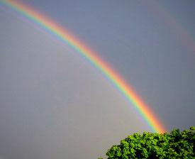 Reise über den Regenbogen in die obere Welt