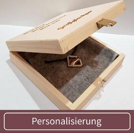 individuelle Geschenkverpackung persönliche Gravur Holzbox Geschenk