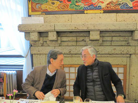 1期ごとに交替でご担当の河東義之先生(左)と内田青蔵先生(右)の貴重なツーショット