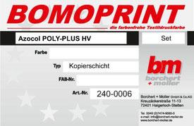 Siebdruckzubehör, Kopierschicht, Azocol Poly-Plus HV