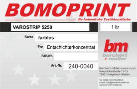 Siebdruckzubehör, Siebdruckchemie, VARIOSTRIP 5250, Entschichterkonzentrat