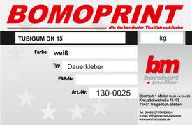 Siebdruckzubehör, Siebdruckchemie, Tubigum DK 15, Dauerkleber