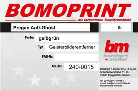 Siebdruckzubehör, Siebdruckchemie, Pragan Anti-Ghost, Geisterbilderentferner