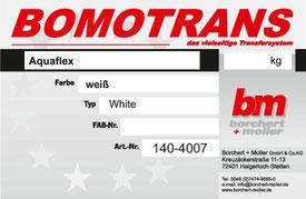 Transferdruck Farbsystem, Aquaflex Transferfarben, TRANSPRINT AF WHITE