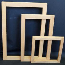 Siebdruckzubehör, Siebe, Holz-Schablonen