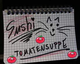 Gabriele Lerch-Hoff Freie Familienaufstellung und Lebensberatung Kaarst Blog Workshop Einzelsitzung Mittagessen Sushi Tomatensuppe