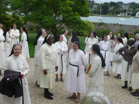 "Sept. 2017 at Ile Blanche (Locquirec - France) – A meeting of Augustine Sisters from Europe and Africa, on the theme, ""time of poverty, time of grace"""