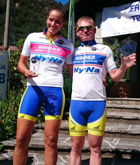 Winner Deaf MTB Europacup for Club 2015 Bjalkova Tamara (CZE) and Cepak Jan (CZE)