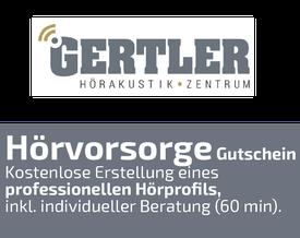 Hörvorsorge-Gutschein, Gertler Hörgeräteakustik, Alsfeld, Homberg