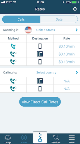 know roaming rates