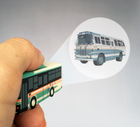 キーライト バス型 投写イメージ