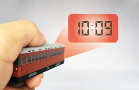 クロックキーライト 電車型/バス型 時計投写イメージ