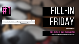 Schlagzeug lernen YouTube - Fill-In Friday Drumfills