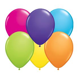 Qualatex Latexballons rund einfarbig Qualitätsballons hochwertig