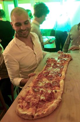 Die Alsterjungs in der Pizzeria Farinelli
