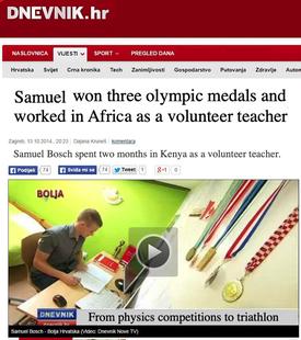 Samuel Bosch article in 100posto