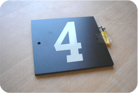 Single digit reflective plaque price £15.00